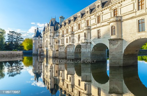 istock Chateau de Chenonceau is a french castle spanning the River Cher near Chenonceaux village, Loire valley in France 1189773937