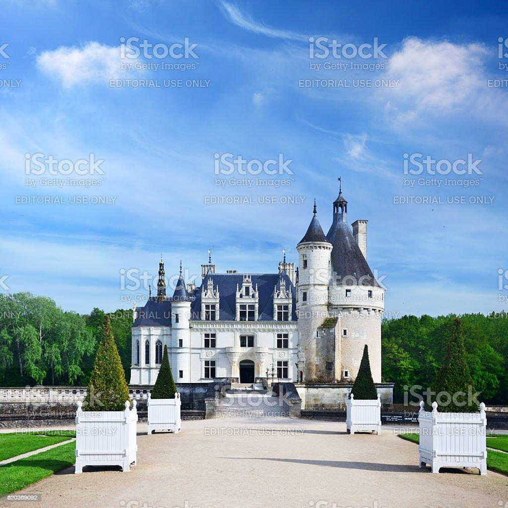 Castelo de Chenonceaux foto de stock royalty-free
