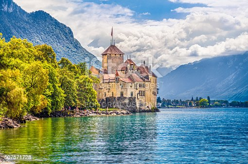 istock Chateau de Chillon at Lake Geneva, Canton of Vaud, Switzerland 507571728