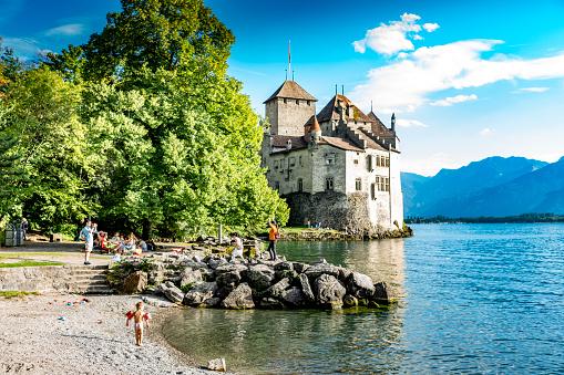 Chateau de Chillon on Lake Geneva, Switzerland