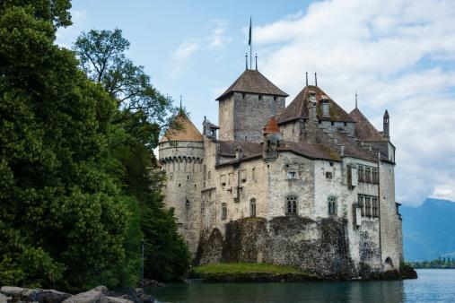 Chateau de Chillon on the shore of Lake Geneva,Switzerland-XXXL