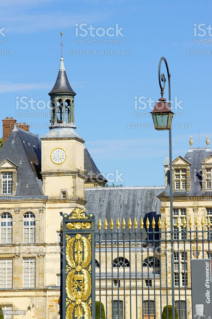 Chateau de Fontainebleau in France stock photo