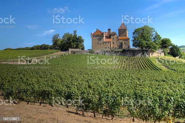 Chateau De Pierreclos Burgundy France Stock Photo - Download Image Now