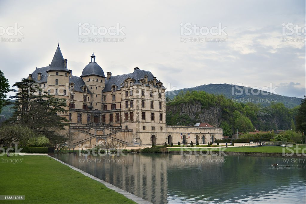 Chateau de Vizille stock photo
