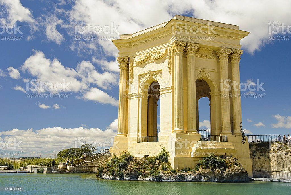 Chateau d'Eau palace - water tower in Montpellier, France stock photo