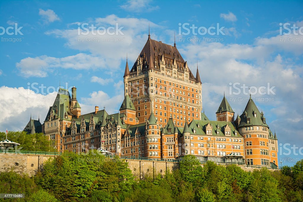 Chateau Frontenac a historic hotel in Quebec city, Canada stock photo