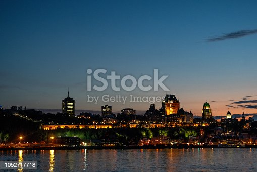 Historic Chateau Frontenac in old town Quebec City Canada