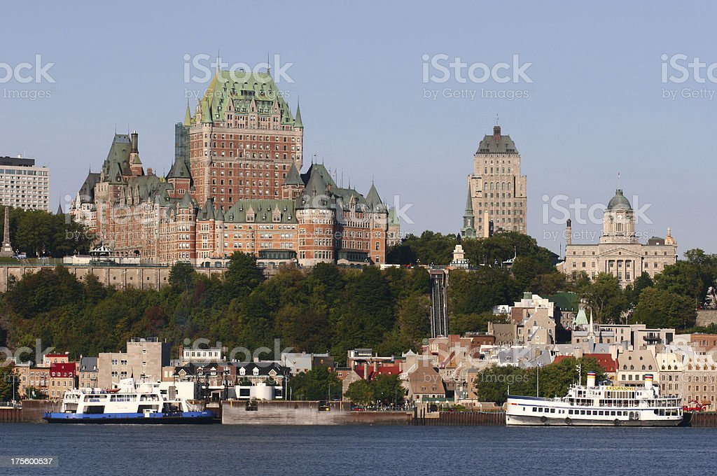 Chateau Frontenac in Old Quebec City royalty-free stock photo