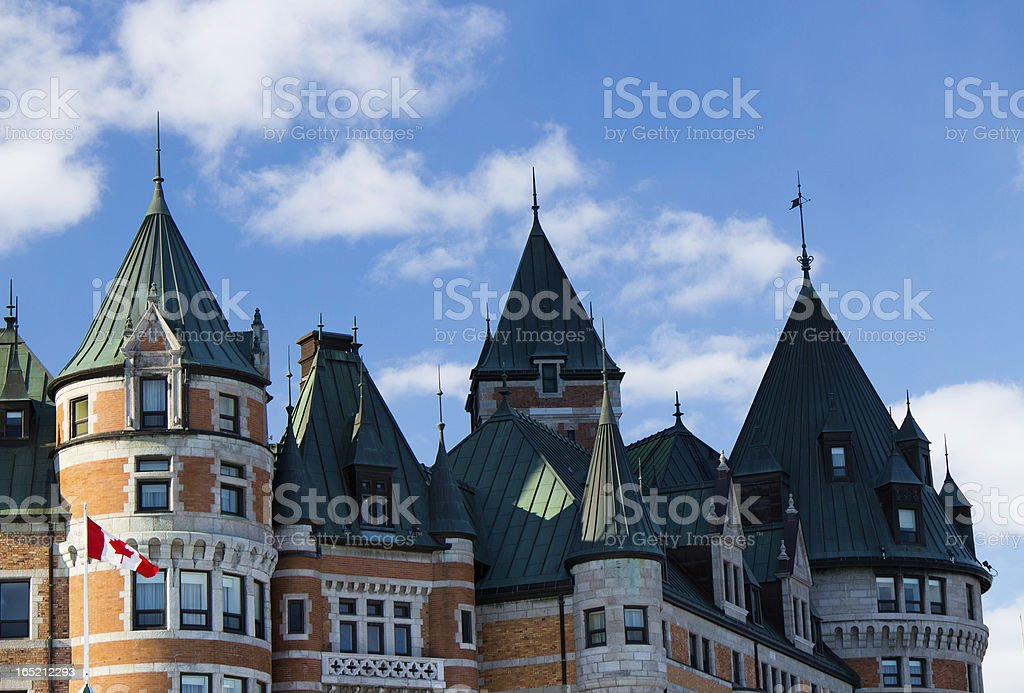 Chateau Frontenac in Quebec City, Canada royalty-free stock photo