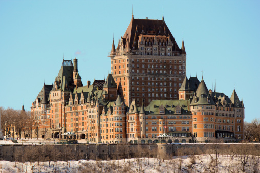 Chateau Frontenac In Quebec City Canada Stock Photo - Download Image Now