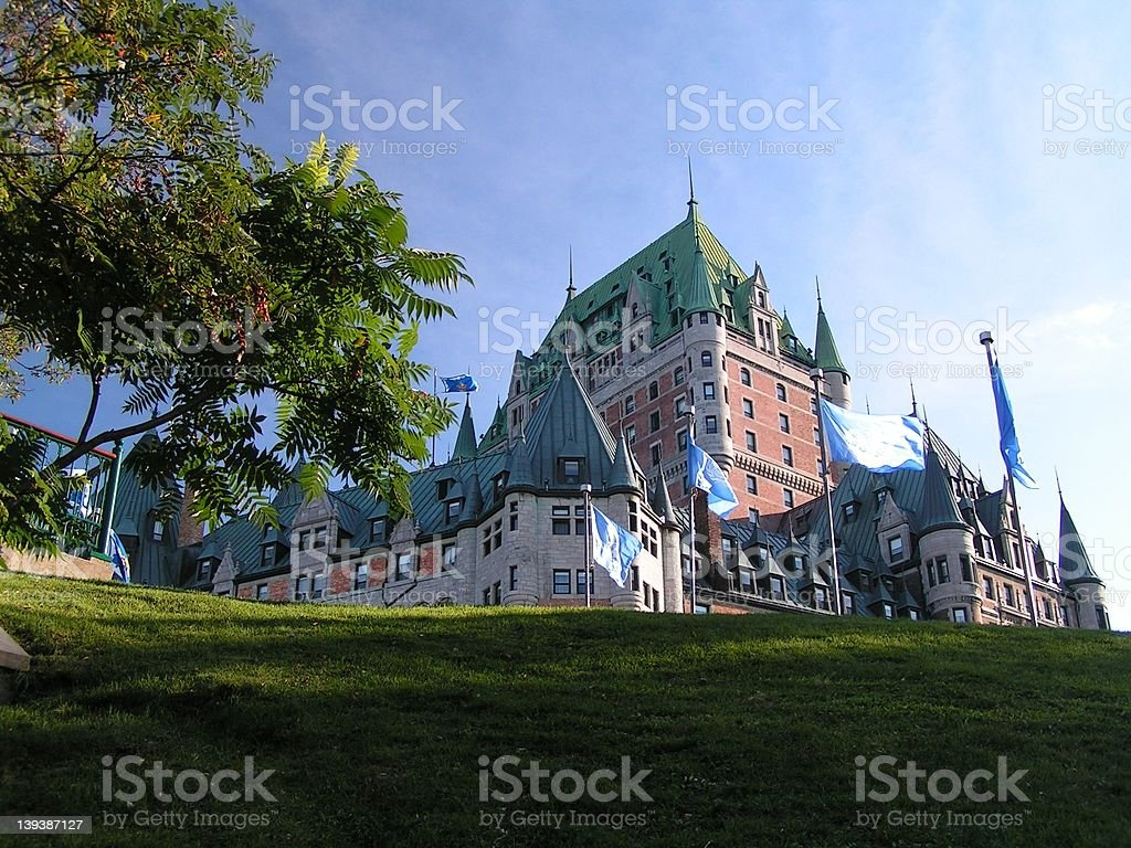 chateau frontenac royalty-free stock photo