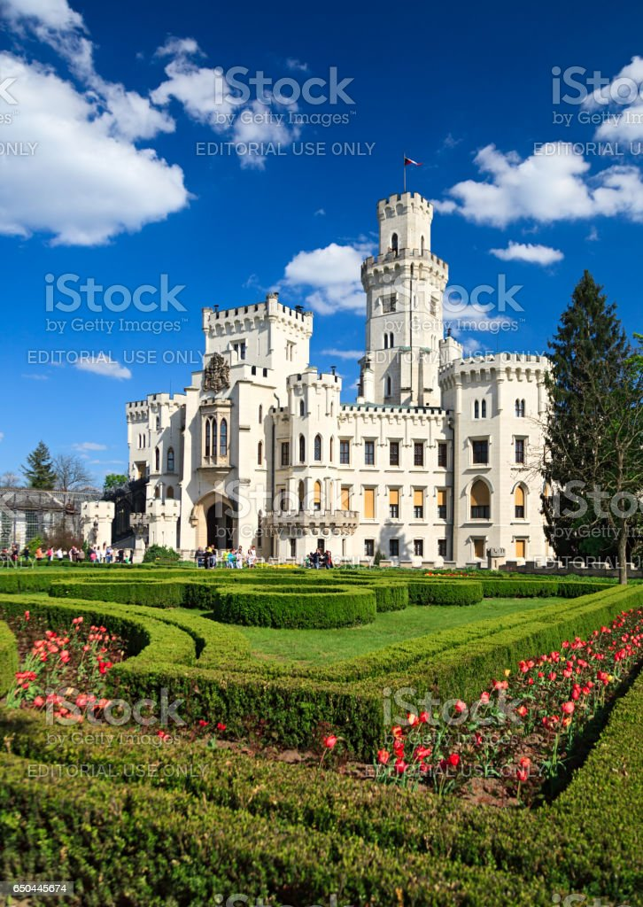 Chateau Hluboka nad Vltavou, Czech Republic stock photo