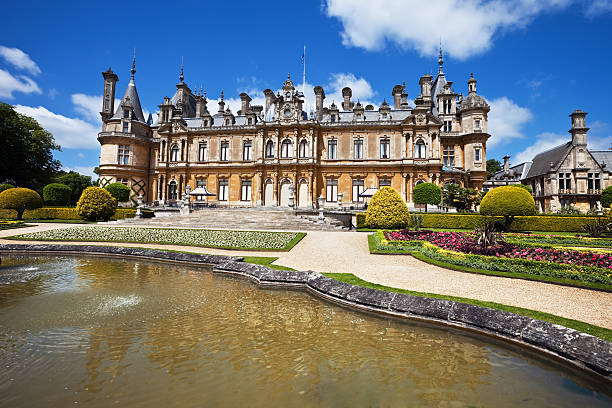 Chateau in Buckinghamshire, England  buckinghamshire stock pictures, royalty-free photos & images