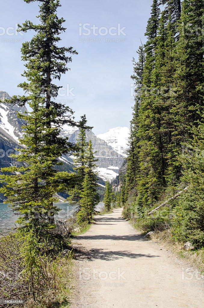 Chateau Lake Louise Trail royalty-free stock photo