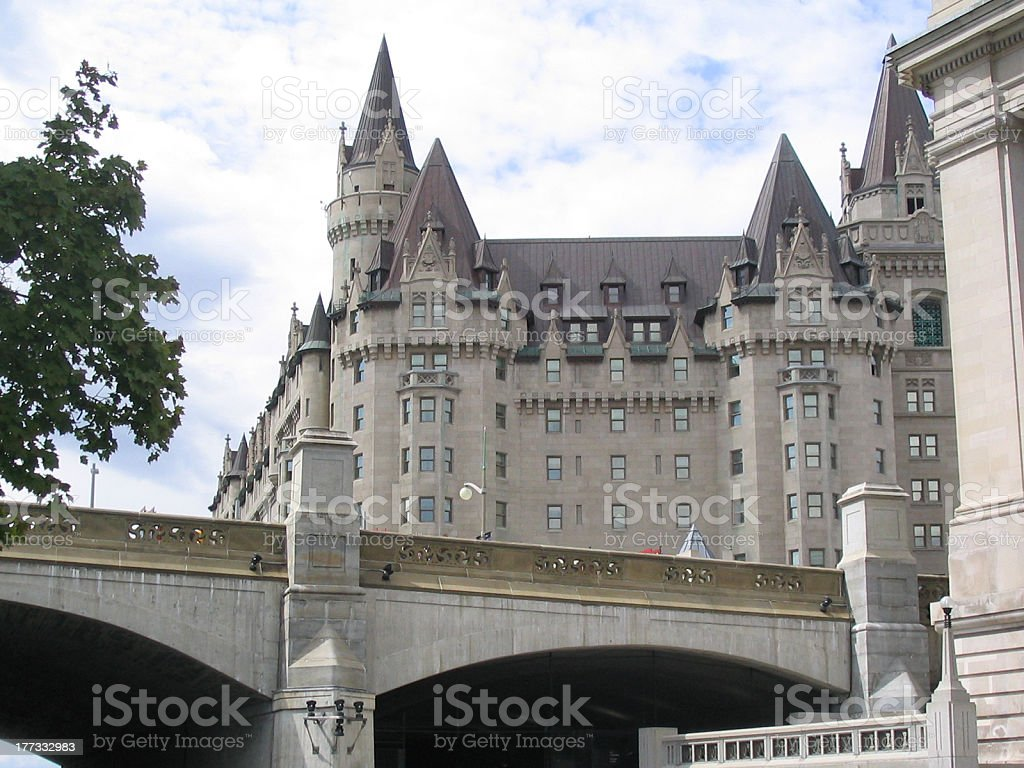 Chateau Laurier stock photo