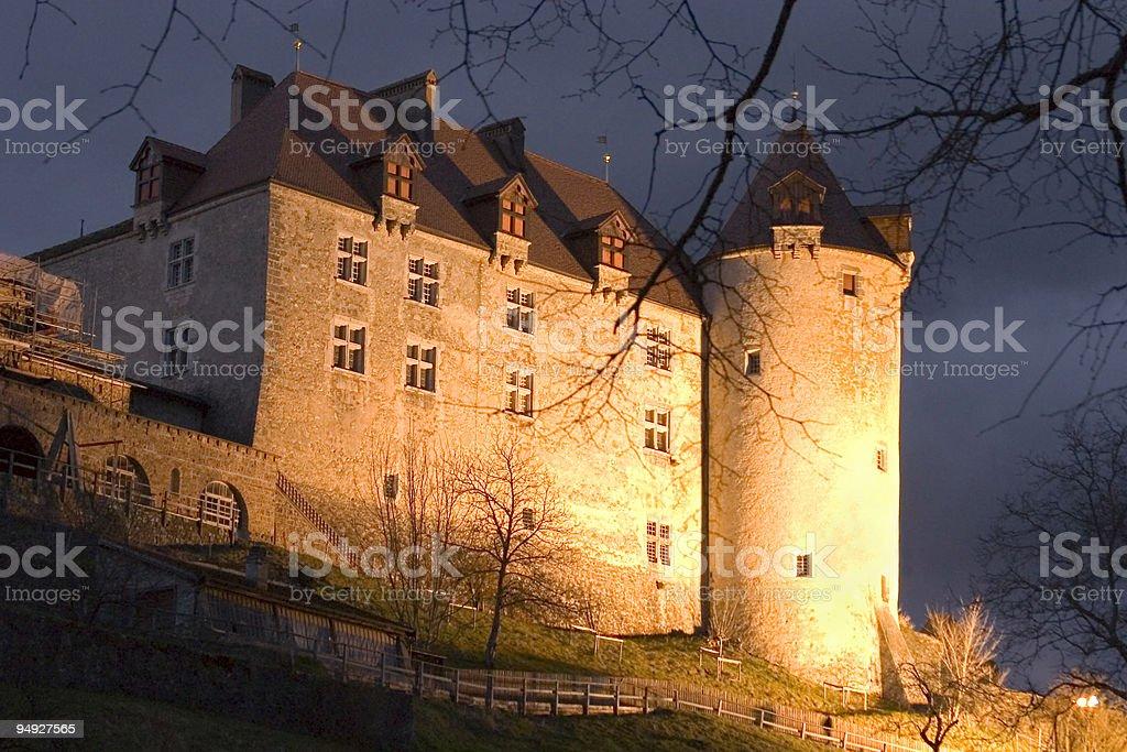 Chateau of Gruyeres stock photo