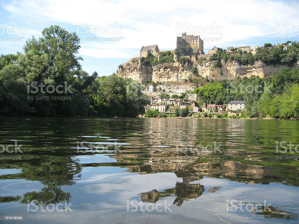 chateau over the river stock photo