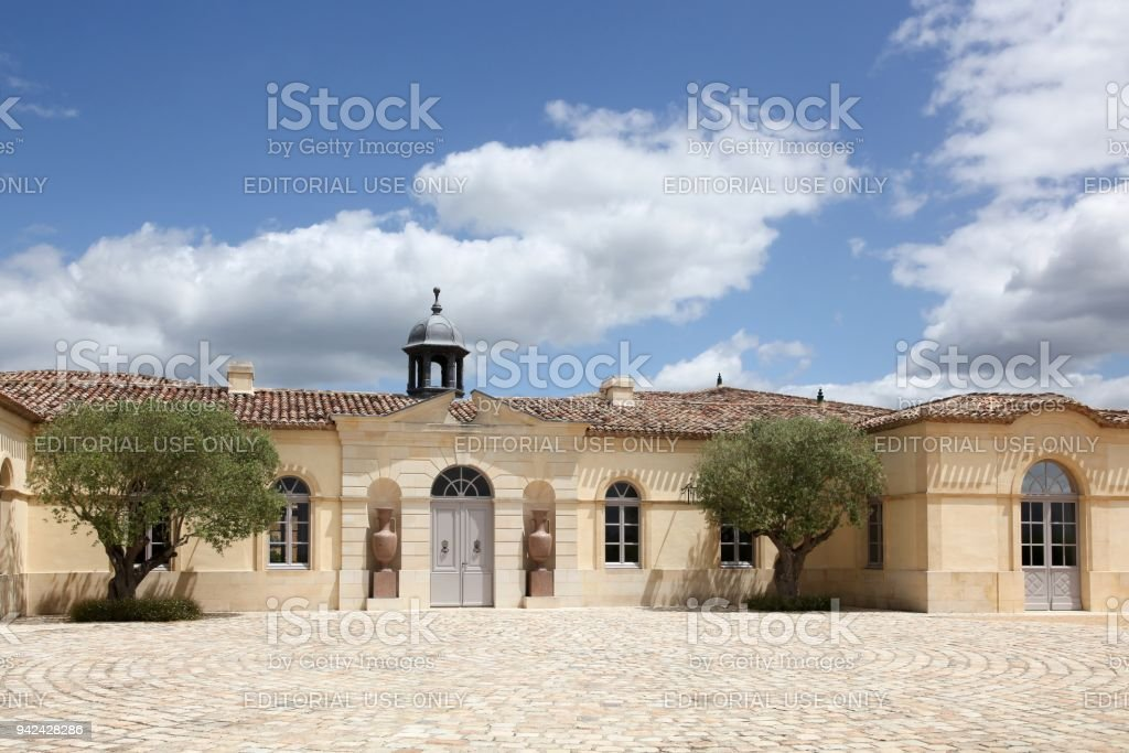 Chateau Petrus in Pomerol, France stock photo