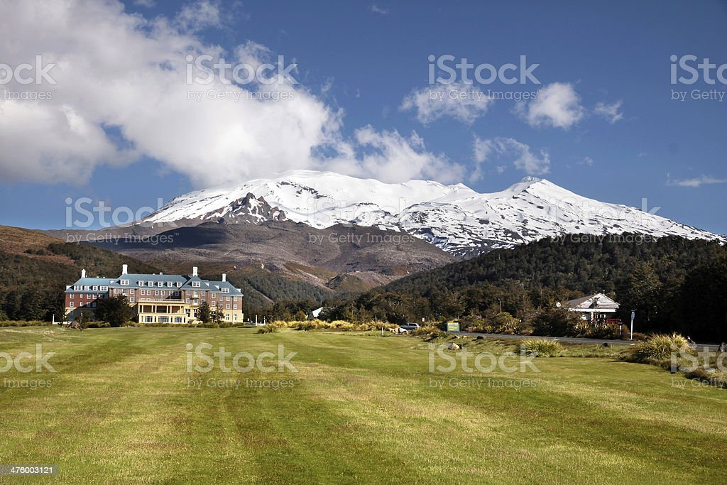 Chateau Tongariro in National Park stock photo
