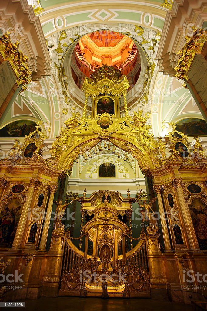 Chatedral in Peter and Paul fortress royalty-free stock photo