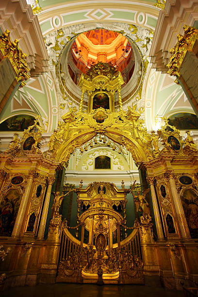 chatedral in peter and paul fortress - peter the apostle stock photos and pictures