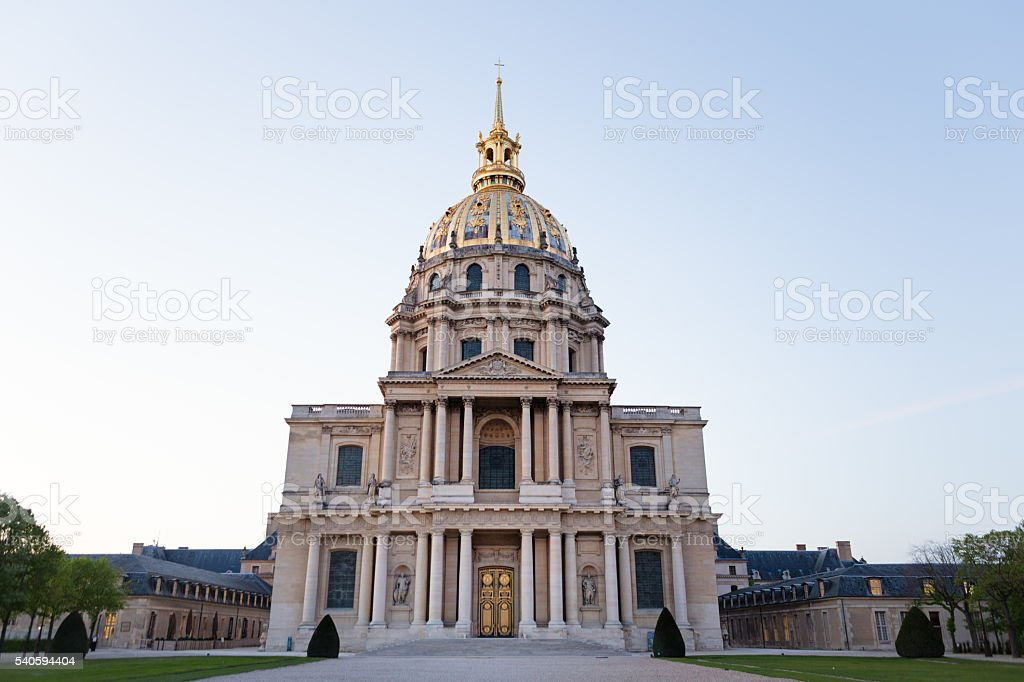 Chatedral of Saint-Louis des Invalides stock photo