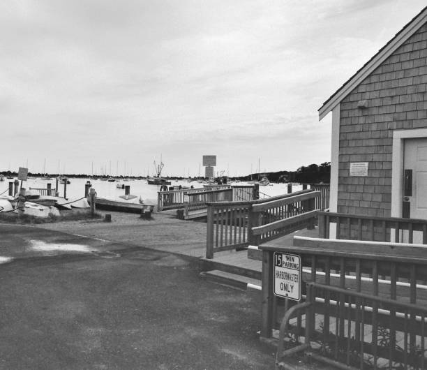 Chatham Harbormaster Office, Chatham, MA. stock photo
