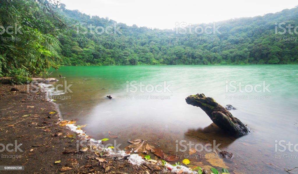 Chato Lagoon in Costa Rica stock photo