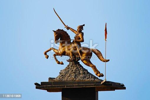 Chatrapati Shivaji Maharaj statue, Katraj, Pune, Maharashtra