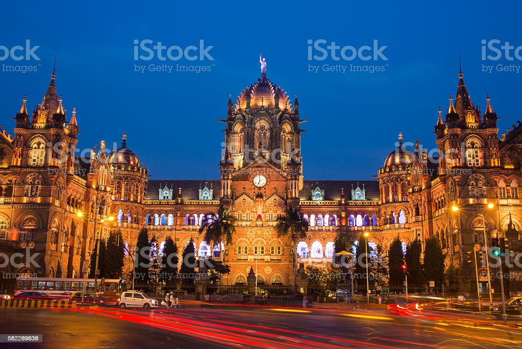 Chatrapati Shivaji Terminus earlier known as Victoria Terminus in Mumbai stock photo