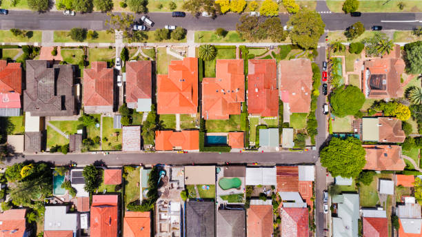 D Chatswood Local Houses Top Down stock photo