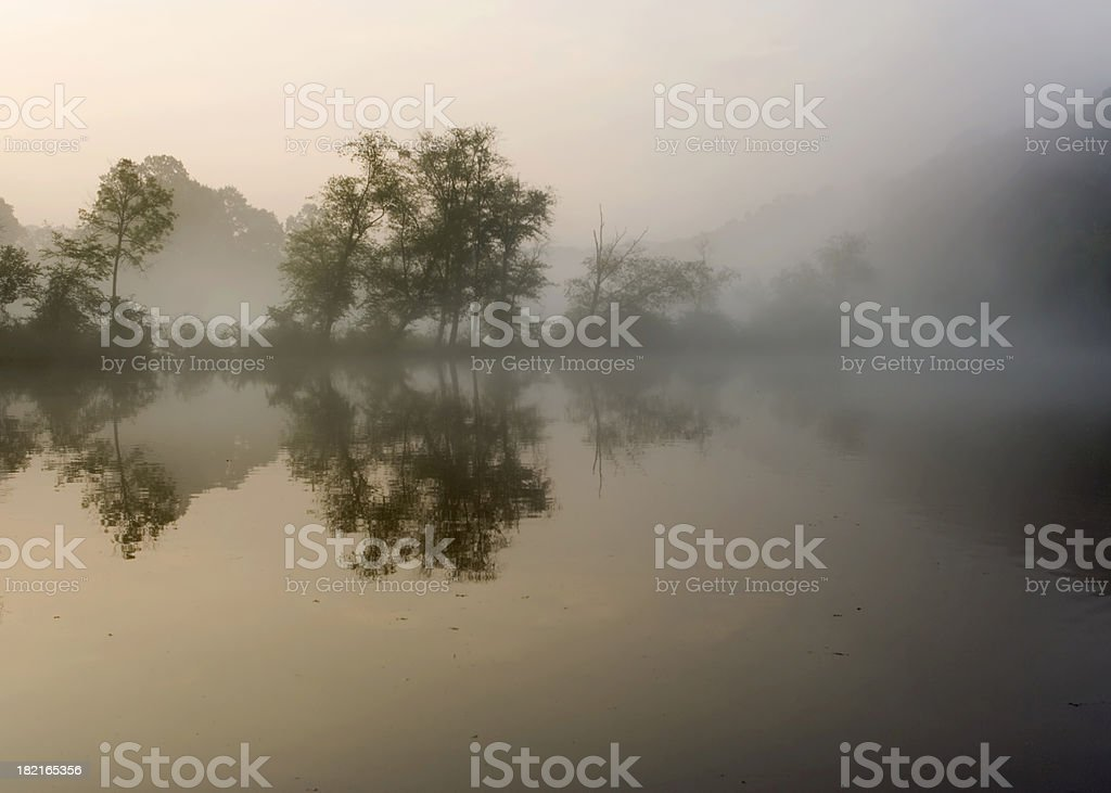 Chattahoochee River early morning royalty-free stock photo