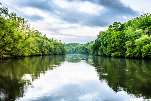 Chattahoochee River Reflections stock photo