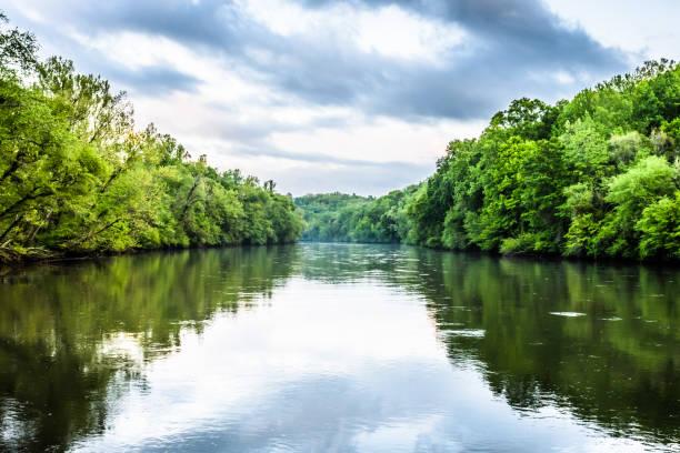 réflexions de la chattahoochee river - fleuv photos et images de collection