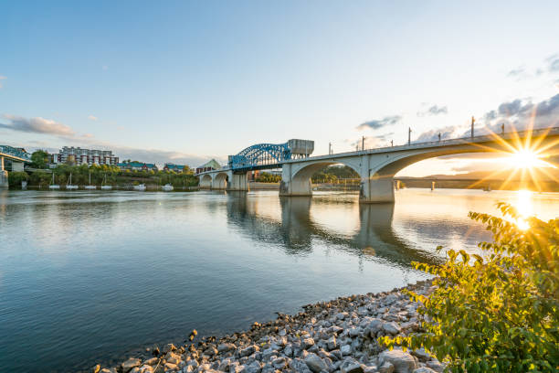 Chattanooga City Skyline stock photo