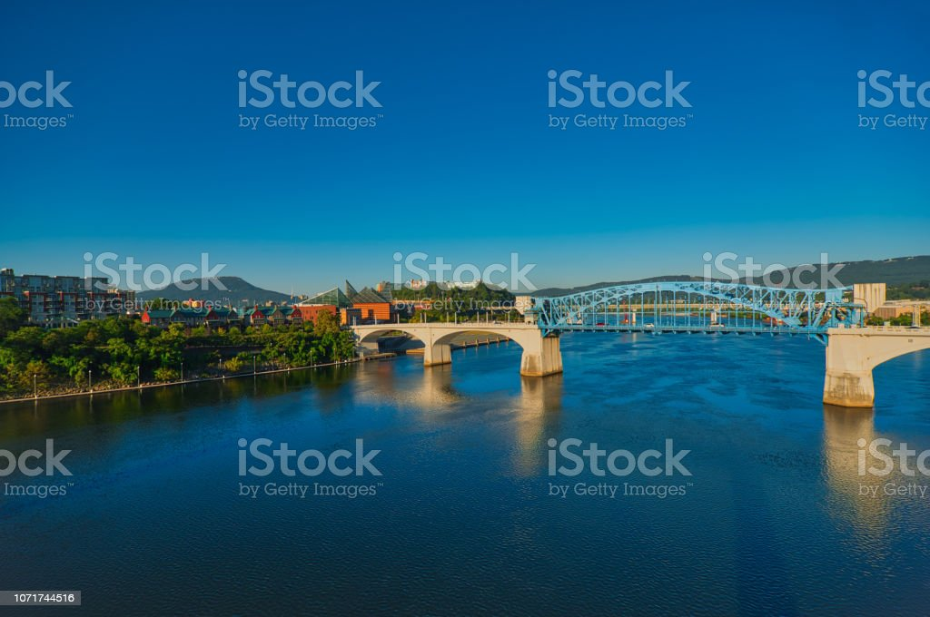 Chattanooga River Scene Stock Photo - Download Image Now