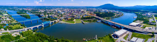 Chattanooga & Tennessee River,TN stock photo