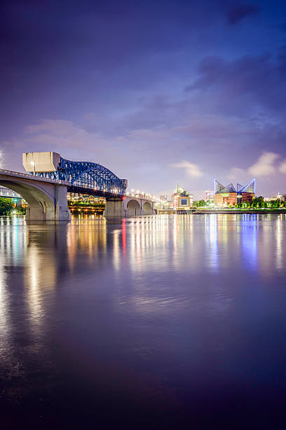 Chattanooga, Tennessee Skyline Chattanooga, Tennessee, USA downtown skyline. chattanooga stock pictures, royalty-free photos & images