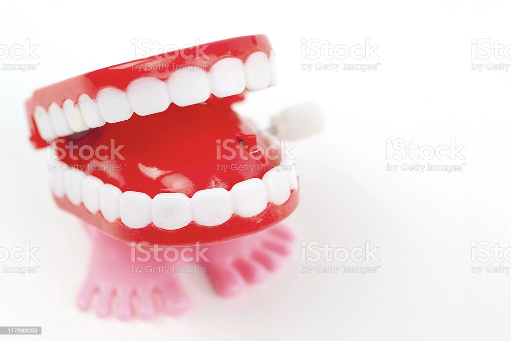 Chattering Teeth royalty-free stock photo