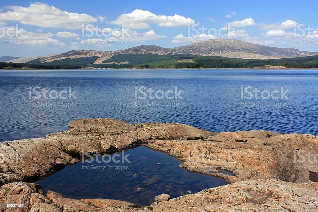 Chatteringshaws Loch Pool stock photo