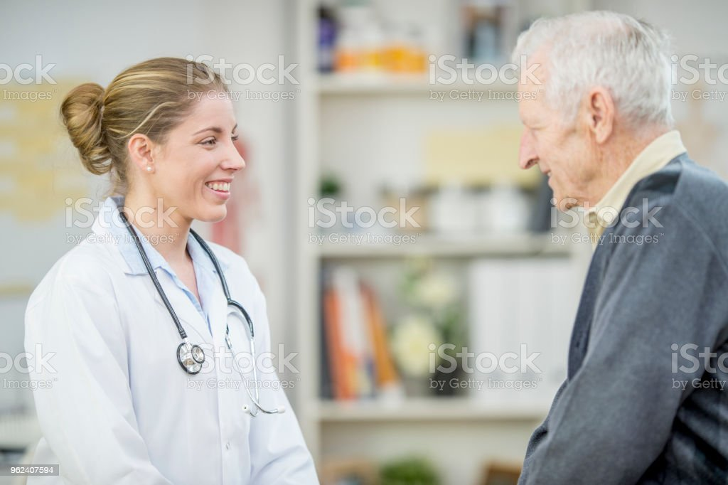 Chatting After Checkup stock photo