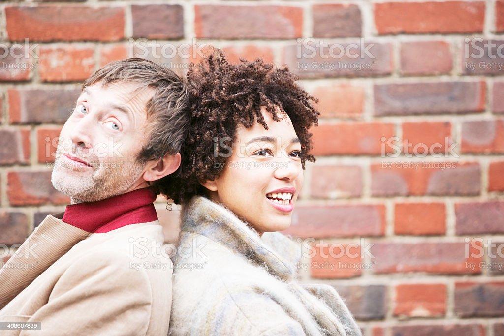 Chatting couple stock photo