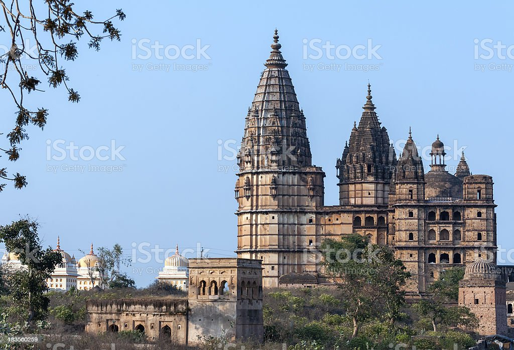 Chaturbhuj Temple at sunset in India's Orchha. royalty-free stock photo