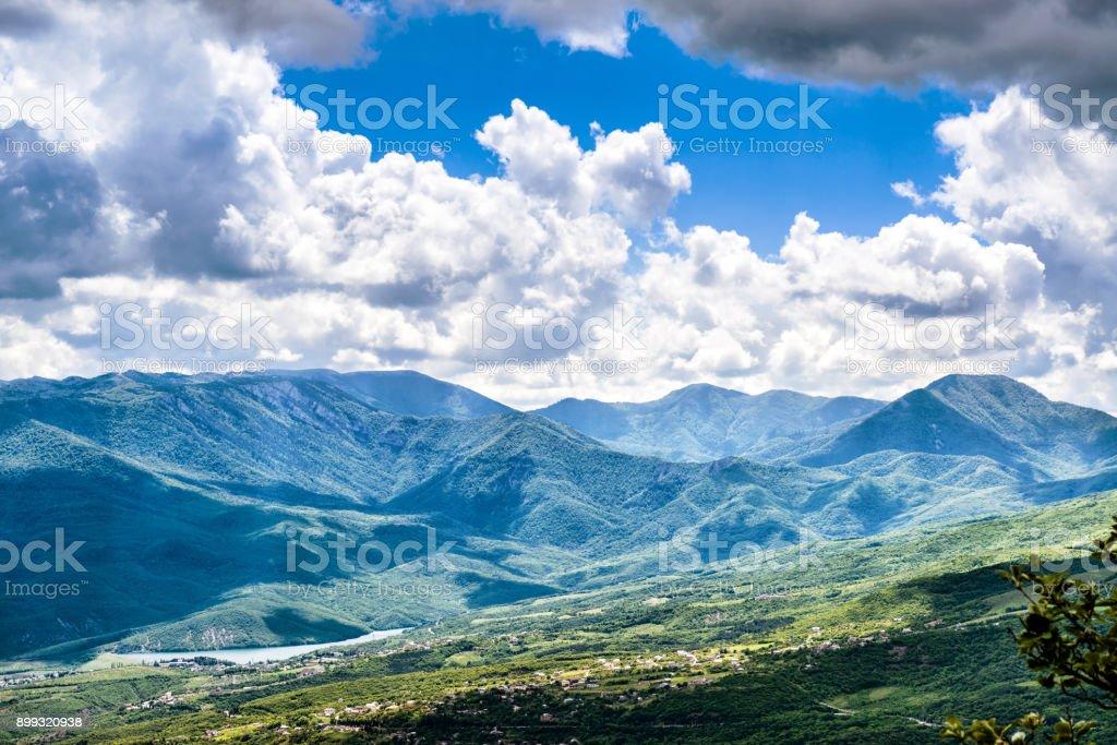 Chatyr-Dah mountain in Crimea stock photo