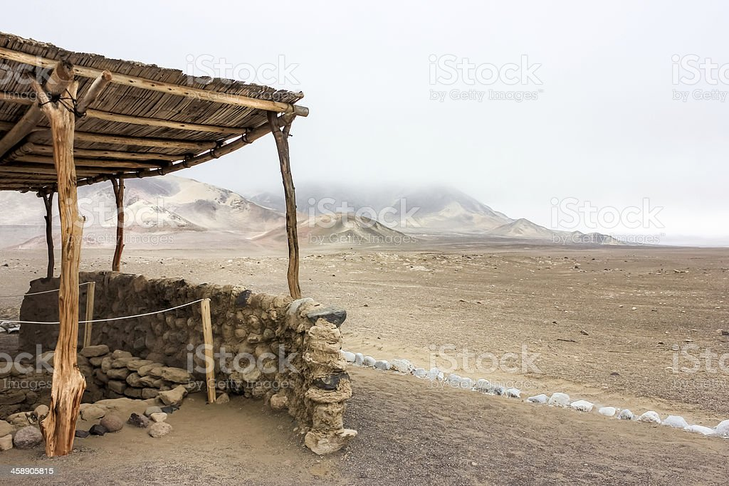 Chauchilla Cemetery Tomb - Nazca Peru royalty-free stock photo