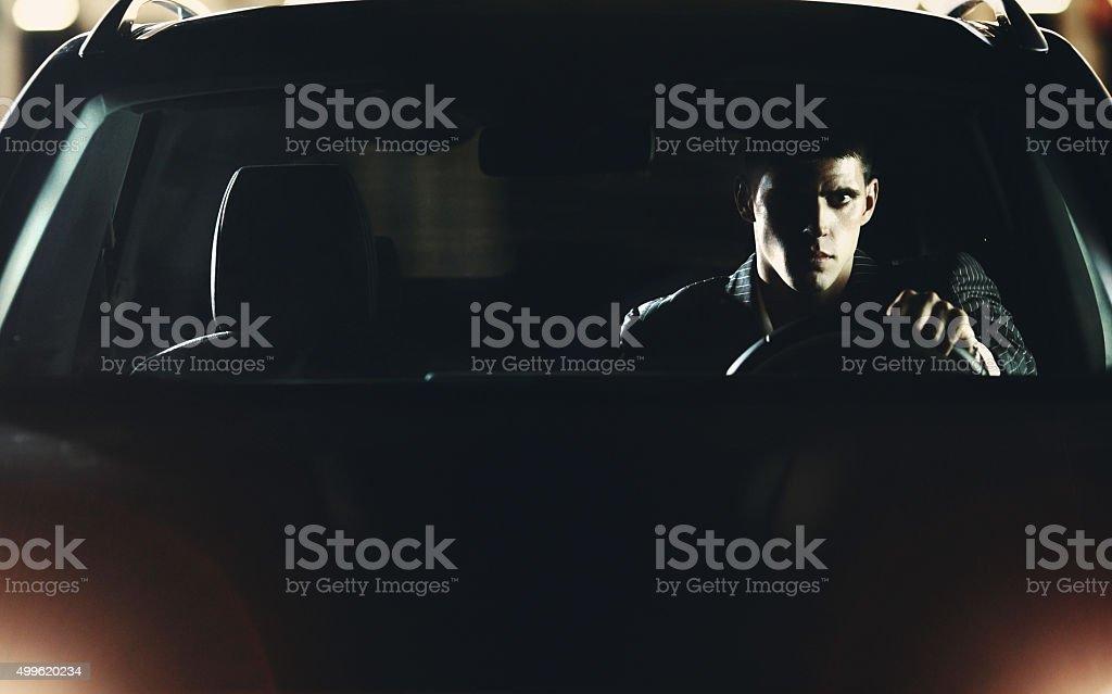 Chauffeur. stock photo