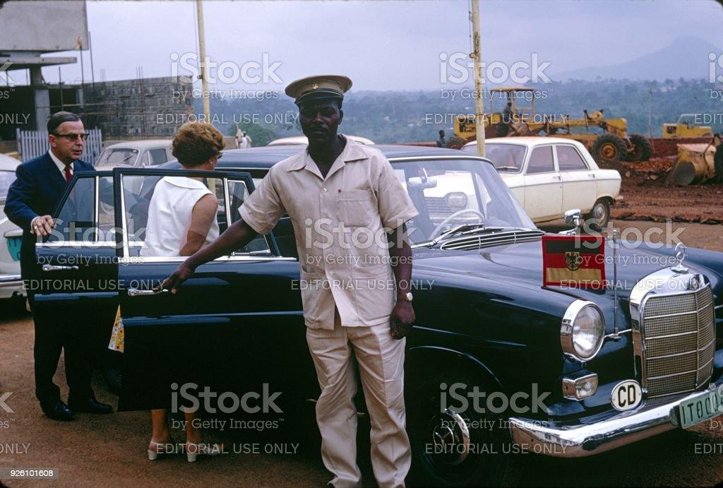 Chauffeur stock photo