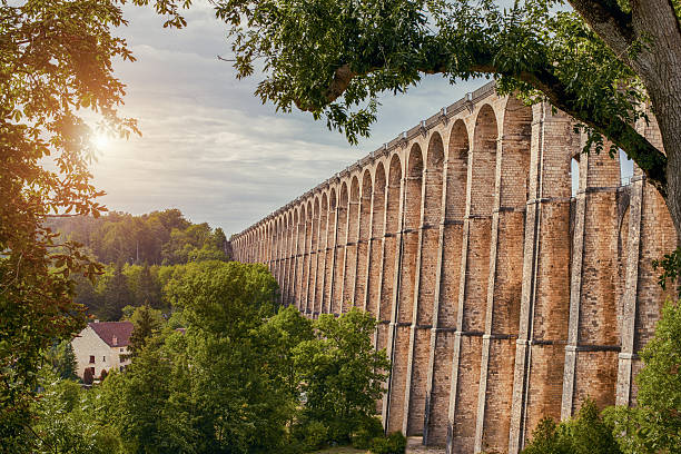 Chaumont Viaduct, France Chaumont Viaduct, France marne stock pictures, royalty-free photos & images