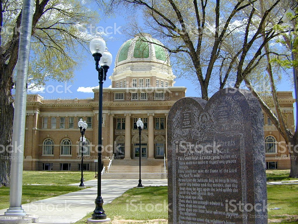 Chaves County Courthouse stock photo