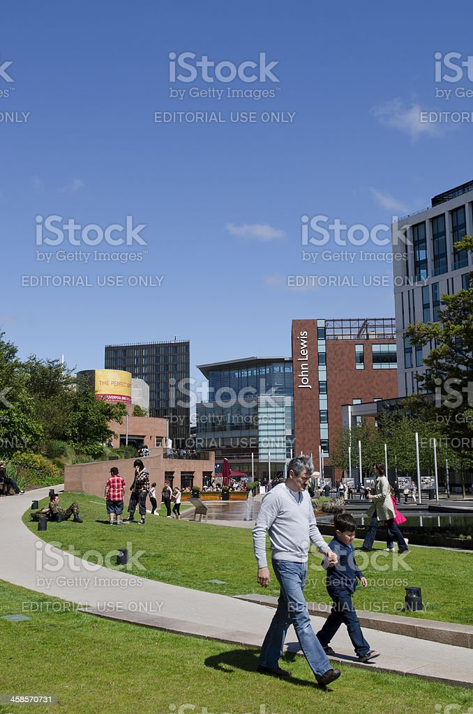 Chavesse Park, Livepool ONE shopping centre stock photo